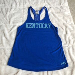 PINK University of Kentucky Lace back tank top